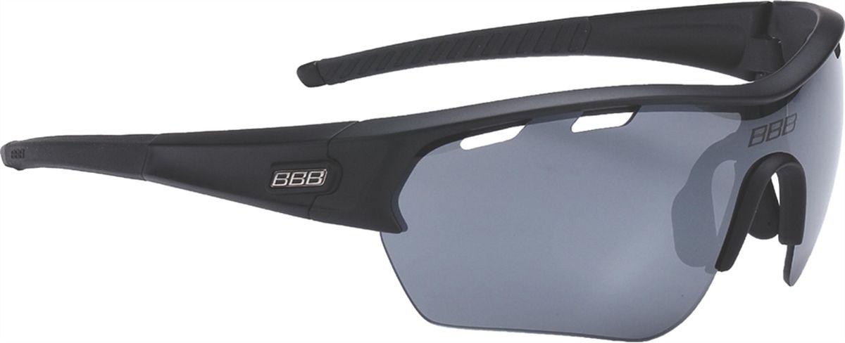 "Очки солнцезащитные BBB ""Select XL PC Smoke Flash Mirror XL Lens Black Tips"", цвет: черный"