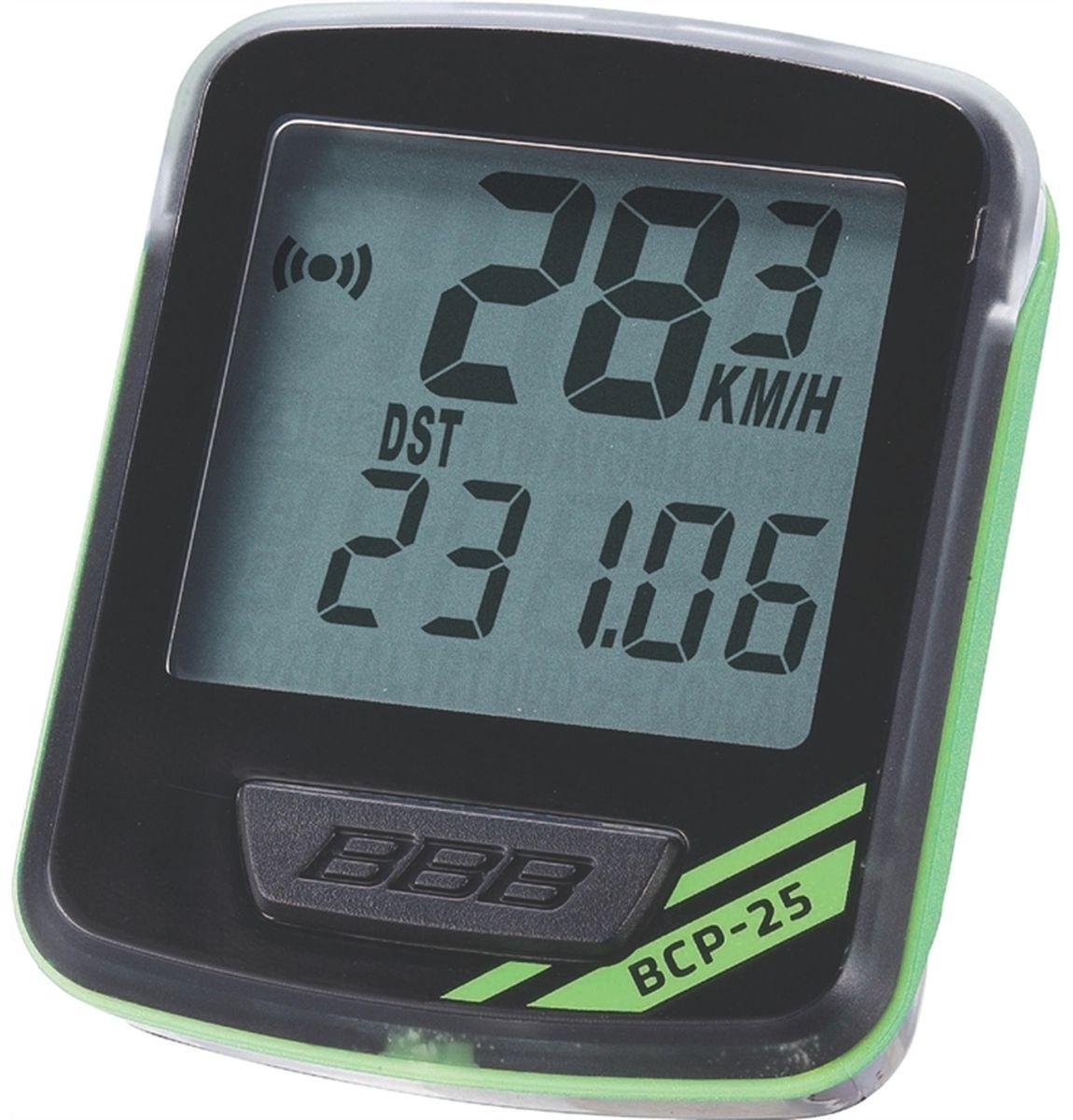 Велокомпьютер BBB NanoBoard, цвет: черный, зеленый, 7 функций