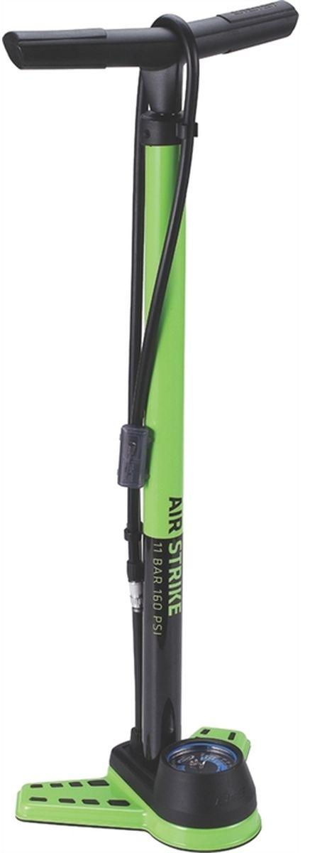 Насос велосипедный BBB AirStrike Steel Pump 2.5 Inch Twisthead, напольный, цвет: зеленый