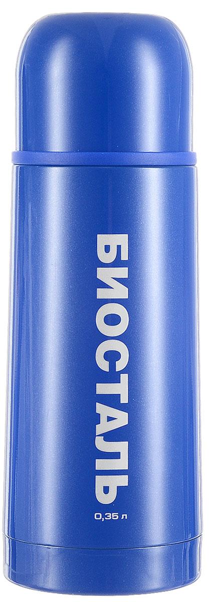 """Термос Biostal """"Flёr"""", цвет: синий, 350 мл"""