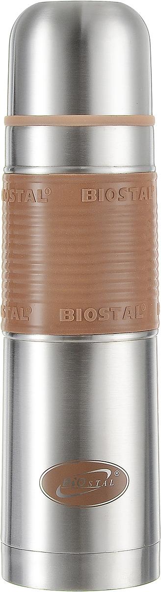 """Термос """"Biostal"""", цвет: коричневый, стальной, 0,75 л"""