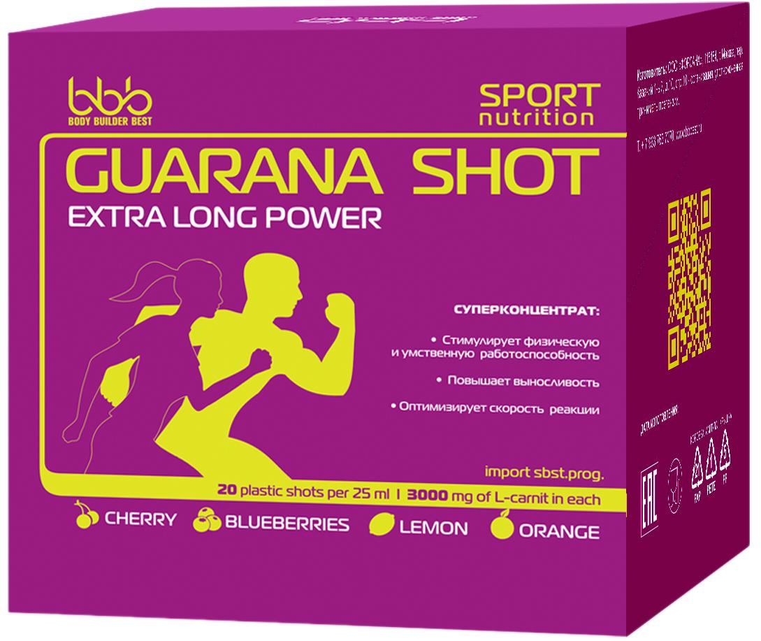 Энергетический напиток bbb Гуарана / Guarana. Вишня, 25 мл, 20 ампул