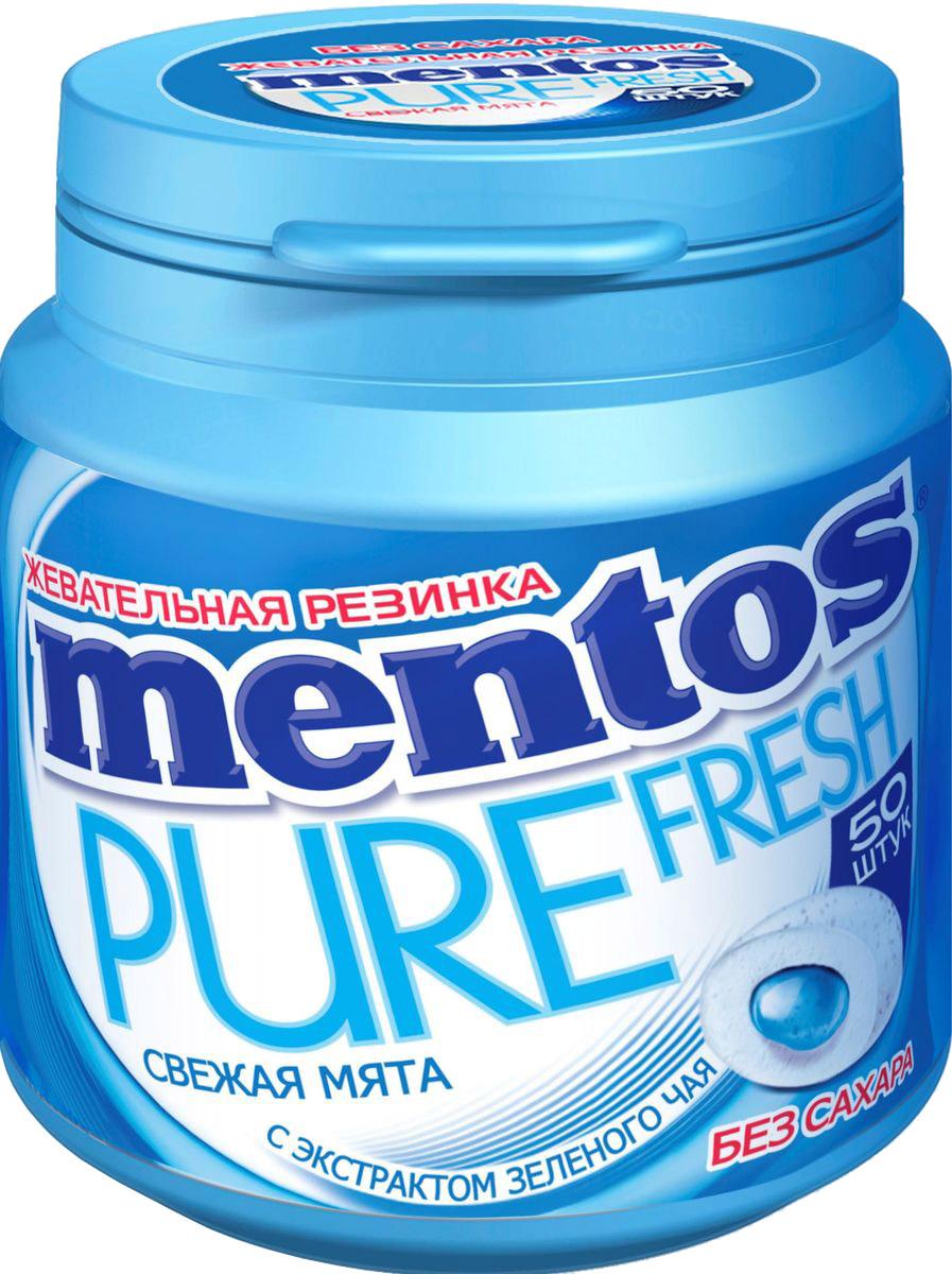 Mentos Pure Fresh Mint жевательная резинка, 100 г lotte cool mint жевательная резинка 26 г