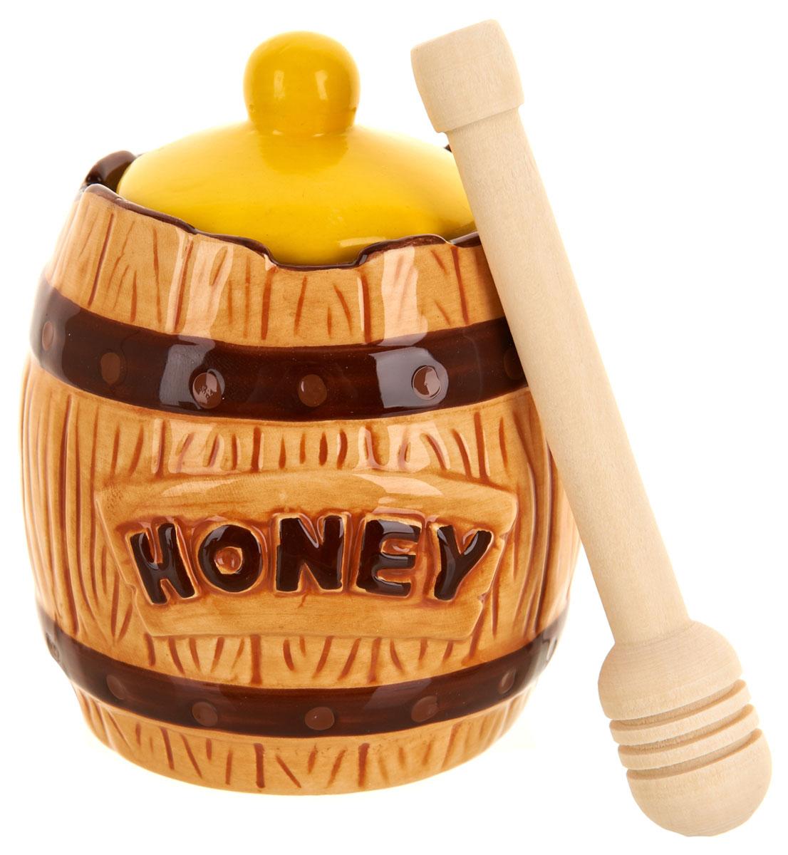 Банка для меда ENS Group Honey, с ложкой, 300 мл банка для меда lefard банка меда 381 963 с крышкой 760 мл