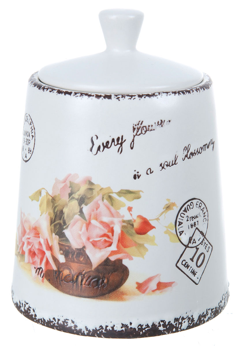 Банка для сыпучих продуктов ENS Group Чайная роза, 800 мл банка для сыпучих продуктов ens group чайная роза 1700 мл