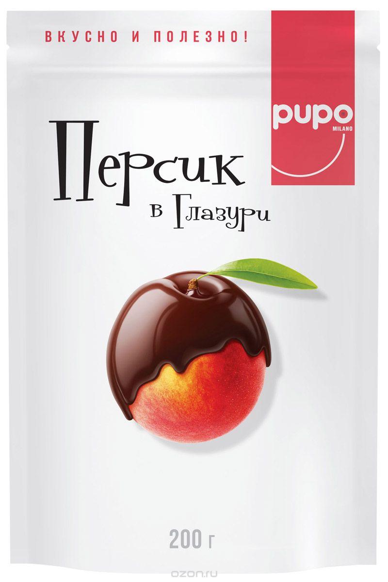 Pupo конфеты Персик в шоколадной глазури, 200 г цена