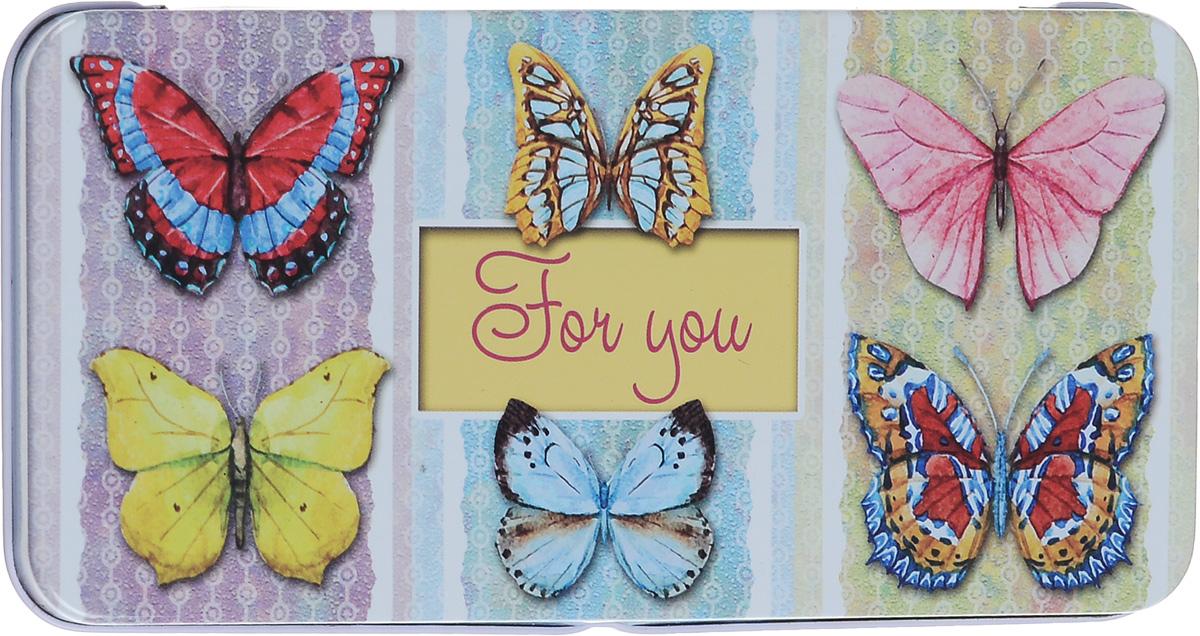 пенал органайзер для мелочей феникс презент бабочки 25 х 20 см Коробка подарочная Феникс-Презент Эффект бабочки, 16,6 х 7,6 х 1 см