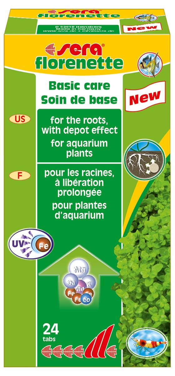 Удобрение для аквариумных растений Sera Florenette, 24 таблетки удобрение комплексное для аквариумных растений sera florenette a