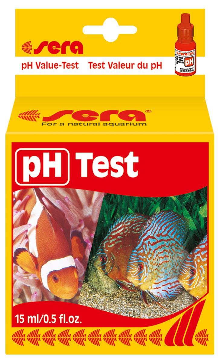 Тест для воды Sera pH-Test, 15 мл комплект jbl ph test set для контроля значения рн в пресной и морской воде от 7 4 до 9 0 единиц 80 измерений