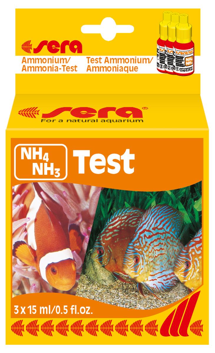 цена на Тест для воды Sera NH4/NH3-Test, 15 мл. 3 шт