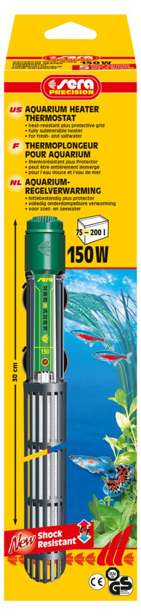 Нагреватель для аквариума Sera Precision, 150 Вт нагреватель sera precision 300w aquarium heater thermostat protective grid с защитной сеткой регулируемый для воды в аквариуме 300вт