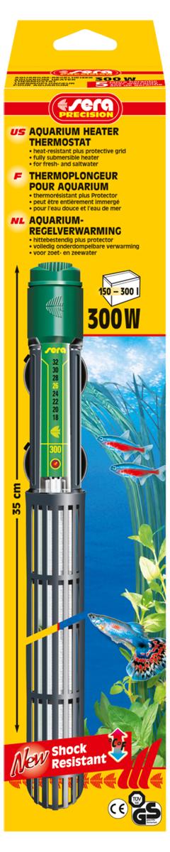 Нагреватель для аквариума Sera Precision, 300 Вт нагреватель sera precision 300w aquarium heater thermostat protective grid с защитной сеткой регулируемый для воды в аквариуме 300вт