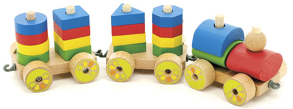 Мир деревянных игрушек Игрушка-каталка Паровозик набор для развития моторики мир деревянных игрушек д189