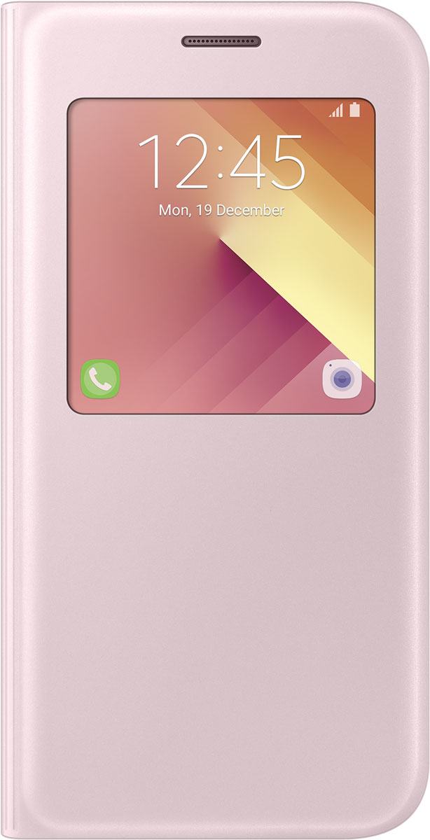 Samsung EF-CA520 S-View Standing чехол для Galaxy A5 (2017), Pink чехол книжка samsung s view standing cover для galaxy a5 2017 золотой