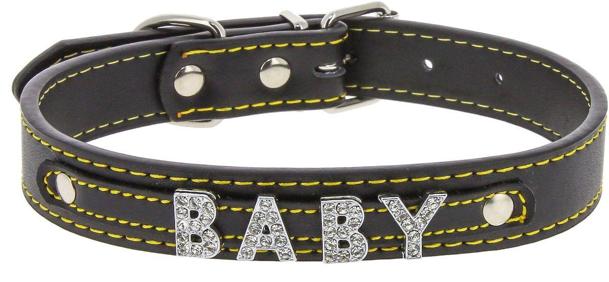 Ошейник для собак Каскад Колибри. Baby, цвет: черный, ширина 20 мм, длина 45 см ошейник для собак каскад строгий быстросъемный диаметр 3 мм длина 55 см