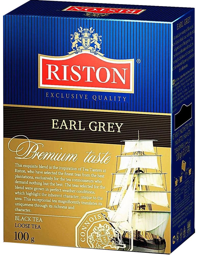 Riston Эрл грей черный листовой чай, 100 г