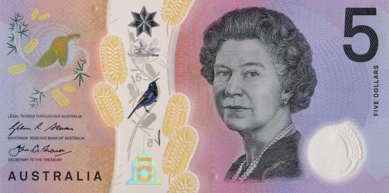 Банкнота номиналом 5 долларов. Полимер. Австралия, 2016 год цены онлайн