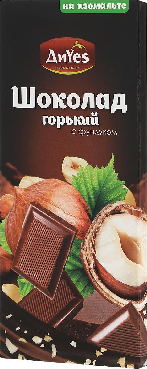 ДиYes Шоколад горький с фундуком на изомальте, 80 г шоколад бабаевский темный с целым фундуком 200г