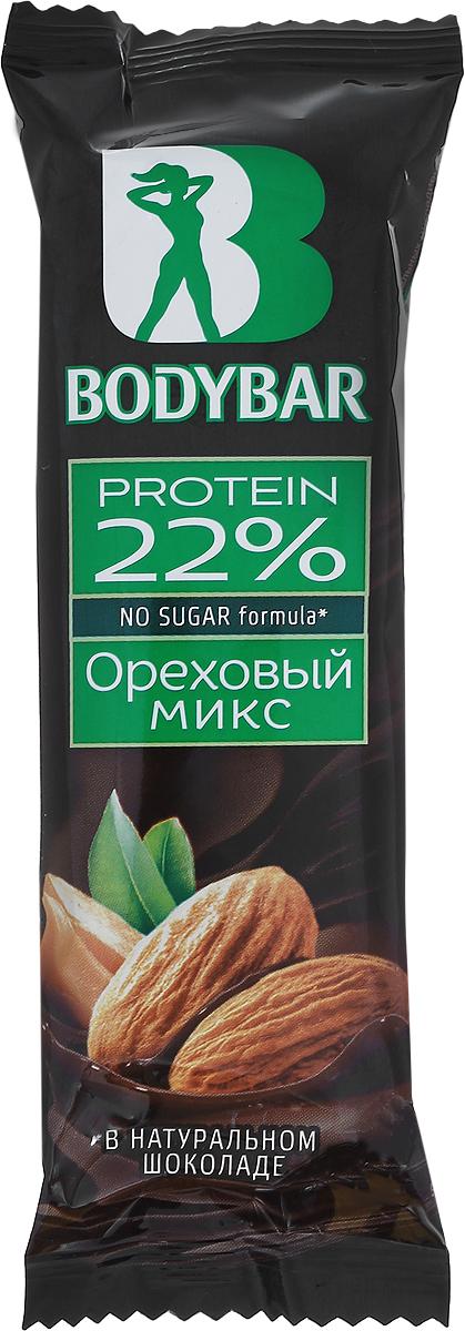 Bodybar Батончик протеиновый 22% со вкусом Ореховый микс в горьком шоколаде, 50 г