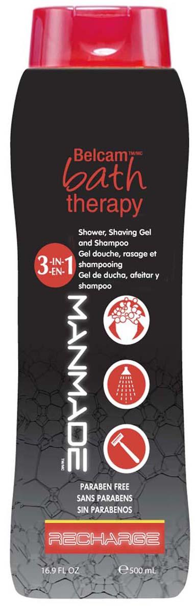 Bath Therapy Гель для душа, пена для бритья и шампунь Подзарядка 3 в 1, 500 мл. гель для бритья в самолет