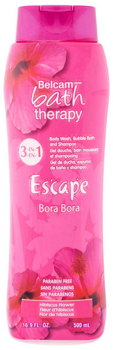 Bath Therapy Шампунь, Гель для Душа, Пена для Ванны Гибискус Бора Бора 3-в-1, 500 мл.