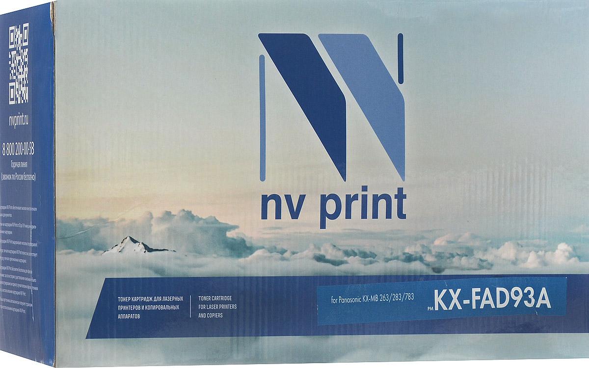 Тонер-картридж NV Print KX-FAD93A, черный, для лазерного принтера, совместимый