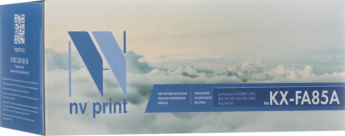 Тонер-картридж NV Print KX-FA85A, черный, для лазерного принтера, совместимый