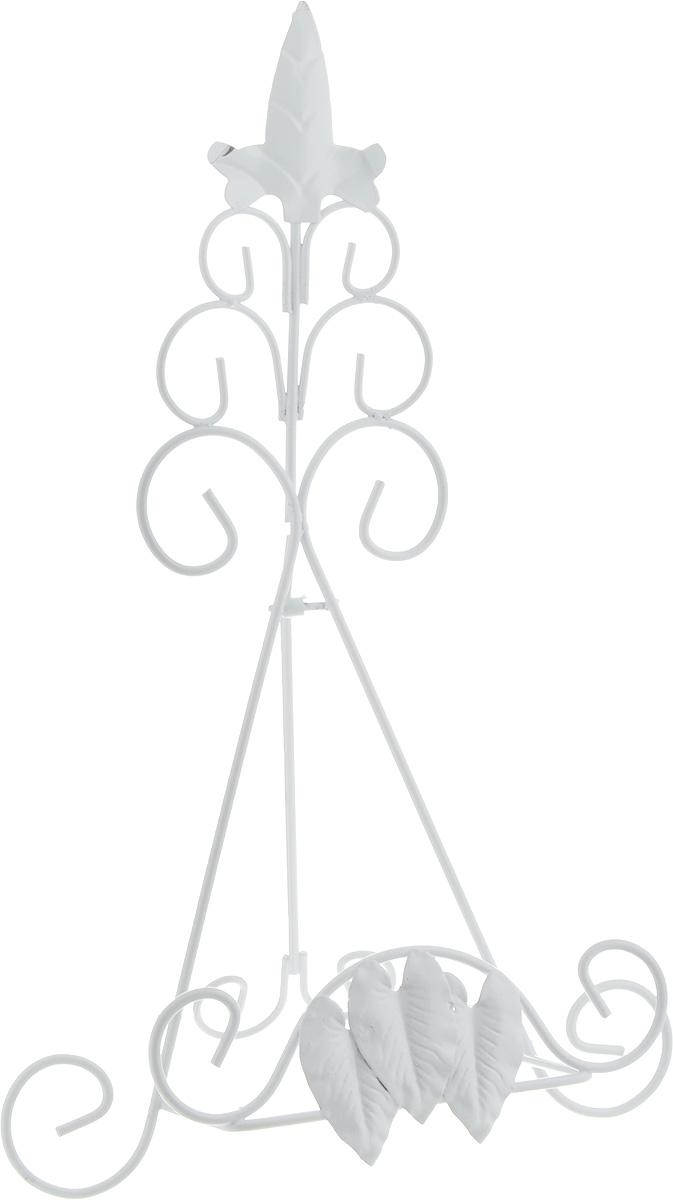 Подставка для книги Феникс-Презент Листва, цвет: белый, 22 х 17 х 35 см подставка под горячее феникс презент хризантема цвет черный золотистый диаметр 17 см