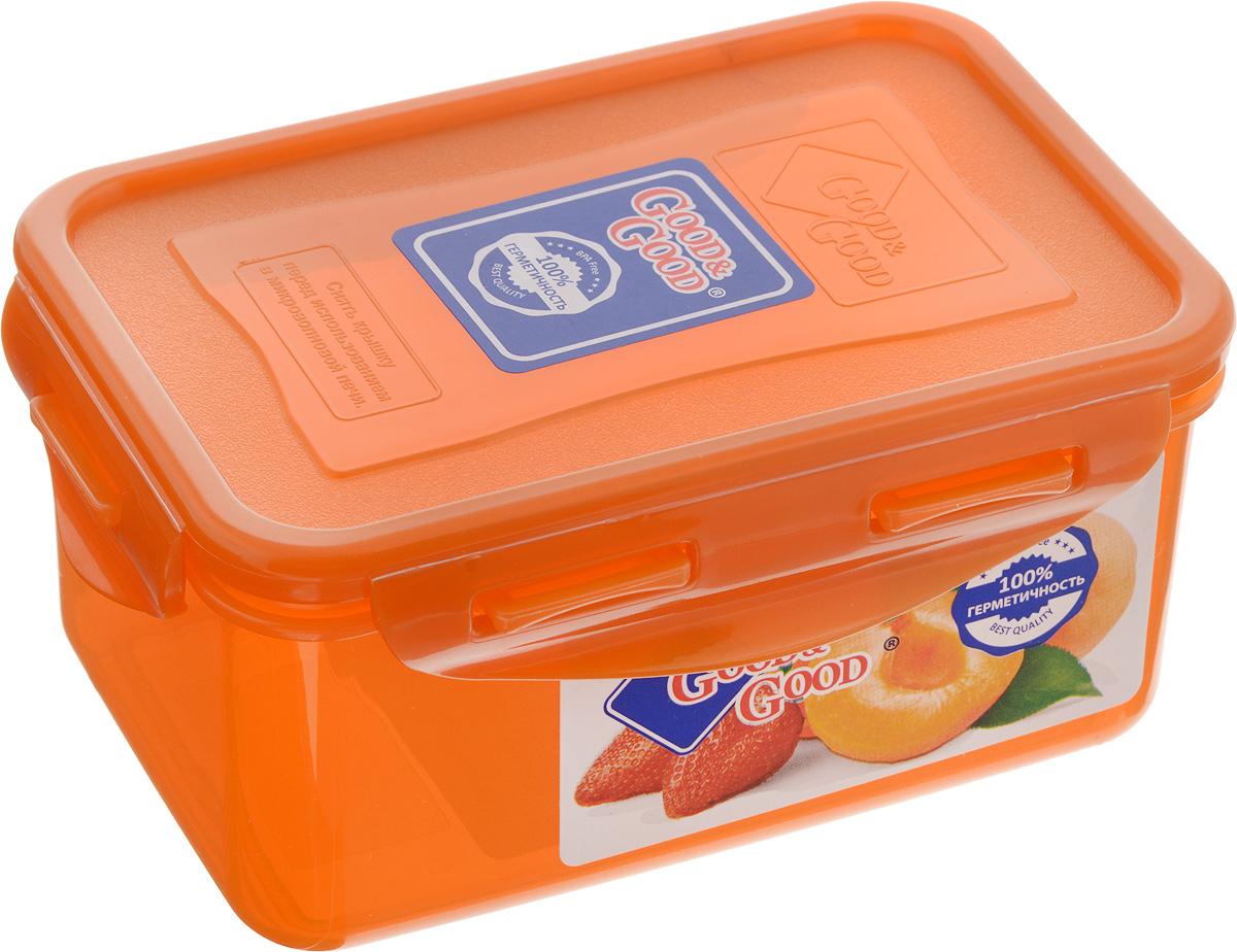 Контейнер пищевой Good&Good, цвет: оранжевый, 800 мл контейнер пищевой good