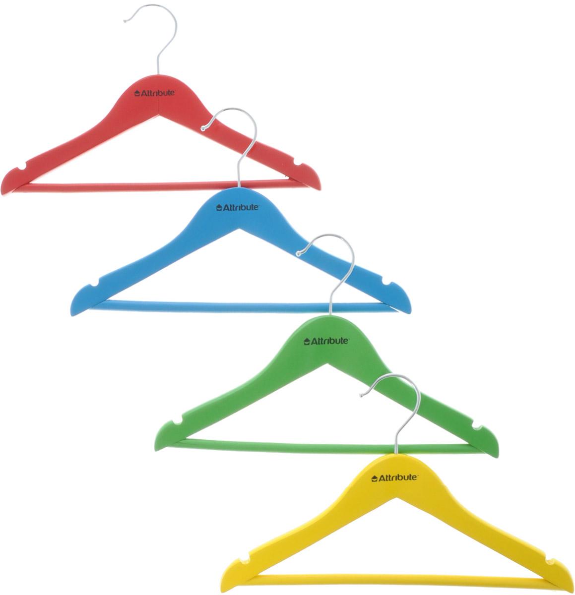 Набор детских вешалок Attribute Hanger Home, длина 30 см, 4 шт набор вешалок для одежды attribute hanger bamboo 3 шт