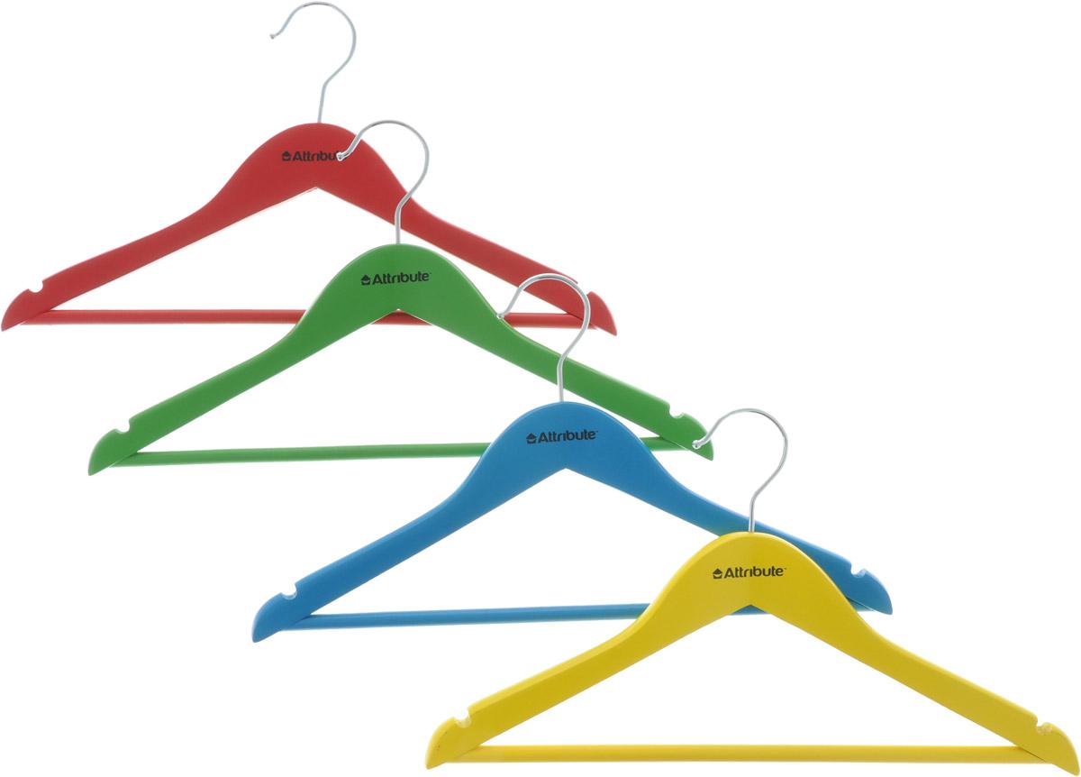 Набор детских вешалок Attribute Hanger Home, длина 35 см, 4 шт набор вешалок для одежды attribute hanger bamboo 3 шт