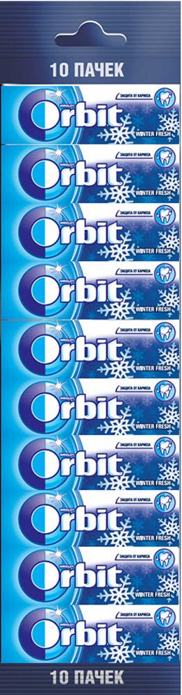 Orbit Winterfresh жевательная резинка без сахара, 10 пачек по 13,6 г цена
