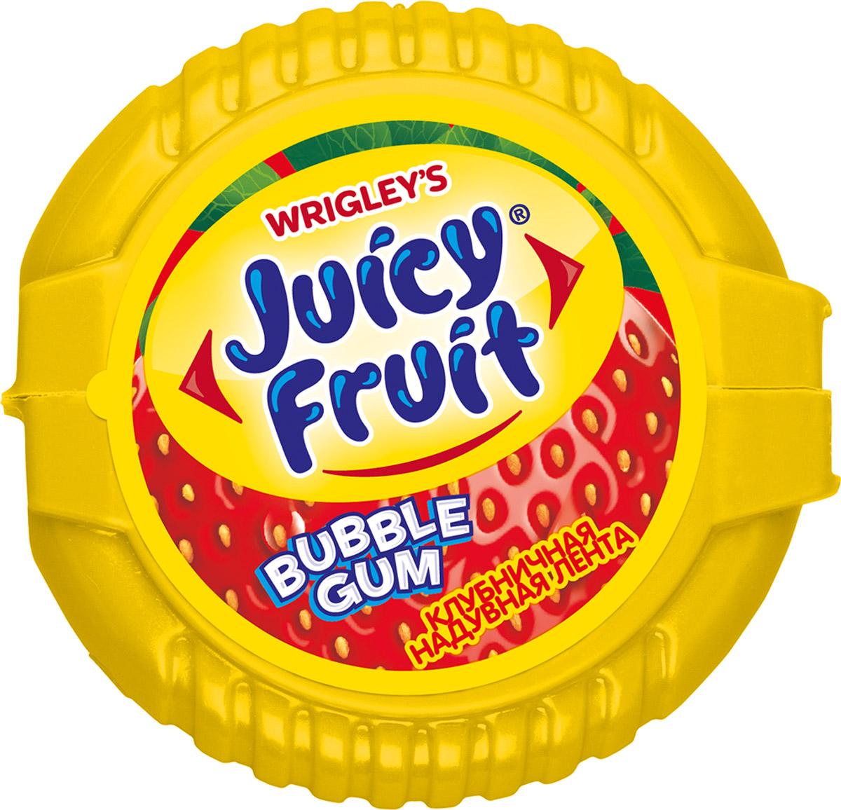 Juicy Fruit Bubble Gum Клубничная надувная лента жевательная резинка, 30 г lotte cool mint жевательная резинка 26 г