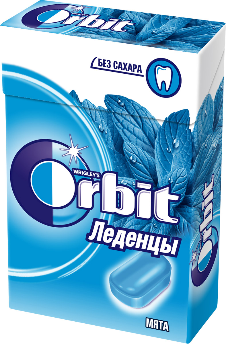 Orbit Мята леденцы, 35 г сhokocat пилюли от лени леденцы для рассасывания 18 г