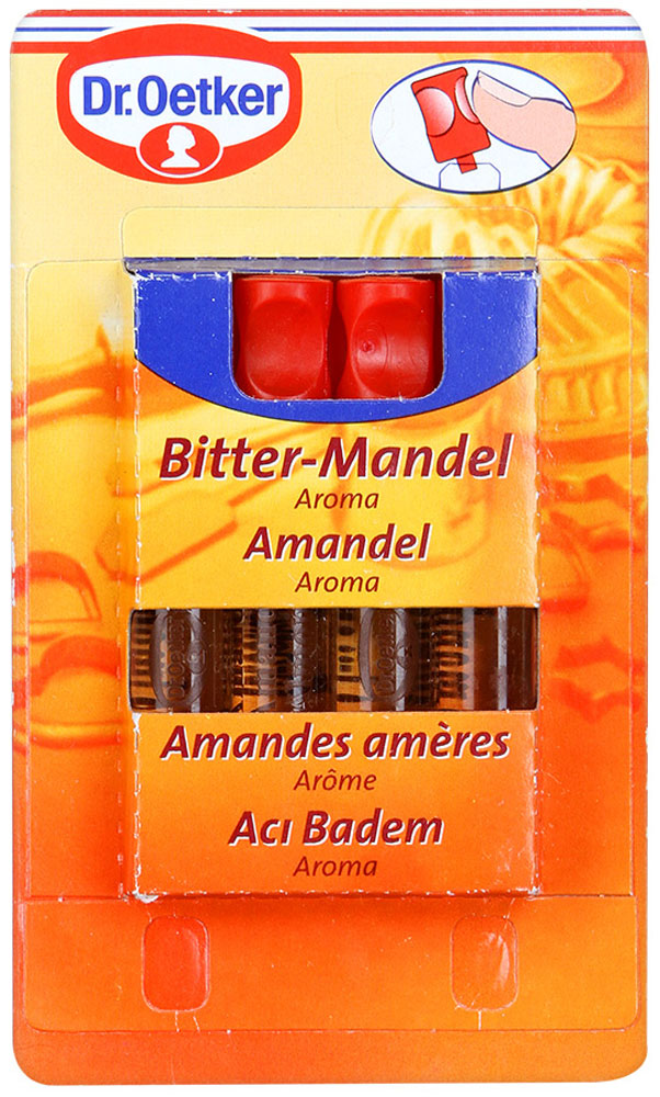 Dr.Oetker ароматизатор миндаль, 4 шт по 2 мл dr oetker ароматизатор сливочная ваниль 4 шт по 2 мл