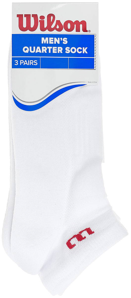 Комплект носков для тенниса Wilson, 3 шт кроссовки для тенниса мужские wilson rush comp ebony цвет белый wrs324580 размер 9 42