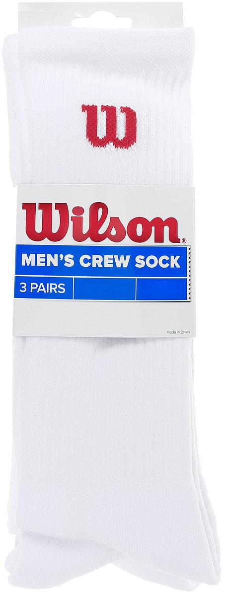 Комплект <b>носков</b> для тенниса <b>Wilson</b> Crew Sock 3pr/Pk — купить в ...