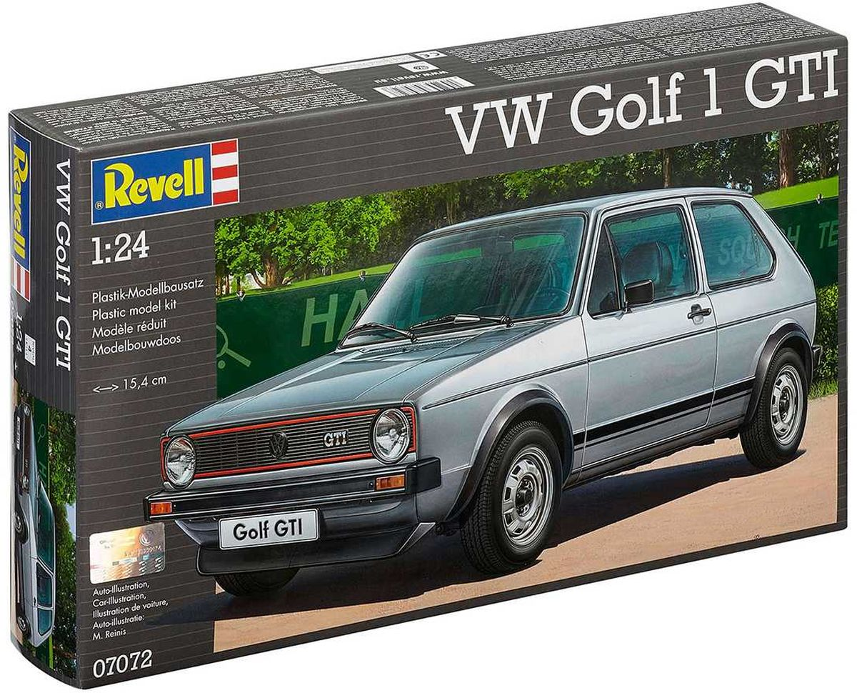 Revell Сборная модель Автомобиль VW Golf 1 GTI клей revell contacta clear ультрапрозрачный 20 г
