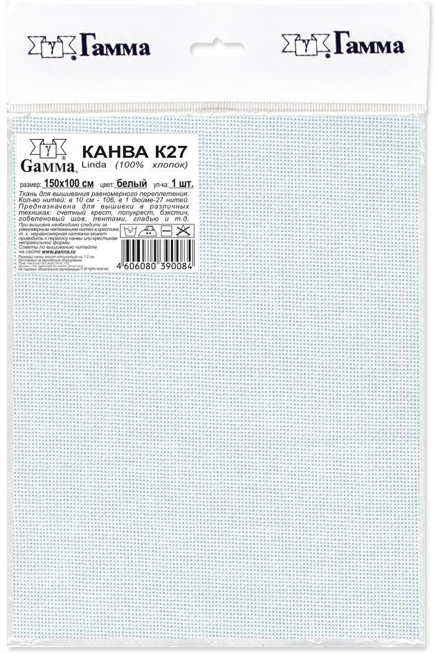 """Канва для вышивания Gamma """"Linda"""", цвет: белый, 150 х 100 см"""