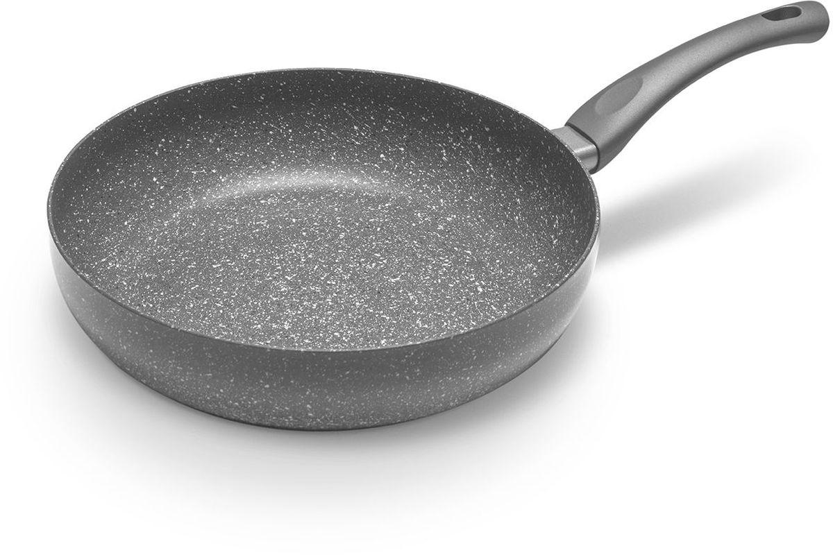 Сковорода MoulinVilla Кухня, с антипригарным покрытием. Диаметр 28 см. GS-28-DI сковорода moulinvilla кухня с антипригарным покрытием со съемной ручкой диаметр 28 см