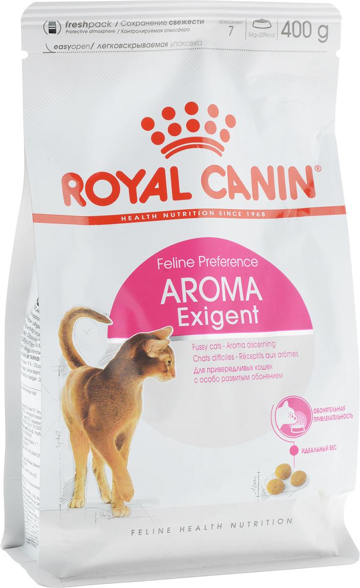 Корм сухой Royal Canin Exigent 33 Aromatic Attraction, для кошек, привередливых к аромату продукта, 400 г корм royal canin exigent 35 30 400g для очень привередливых кошек 682004 682104