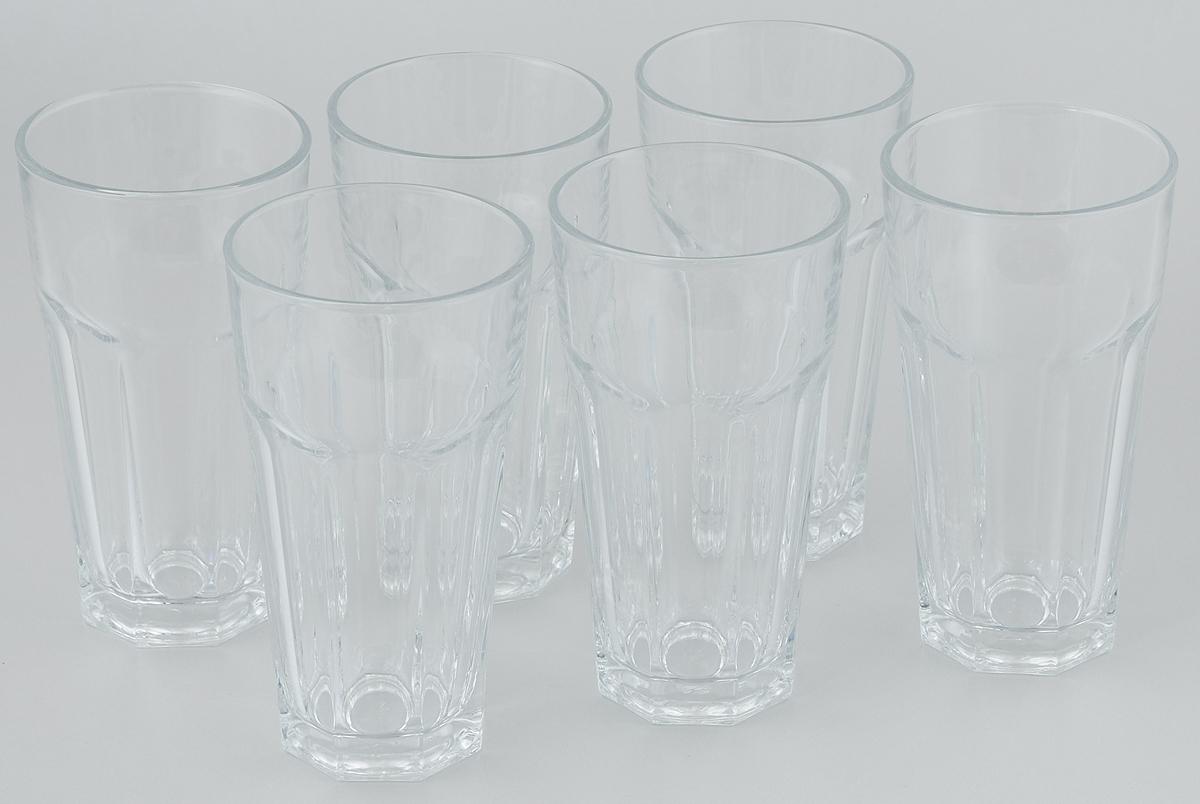 Набор стаканов Pasabahce Casablanca, 365 мл, 6 шт набор стаканов для виски pasabahce сильвана 305 мл 6 шт