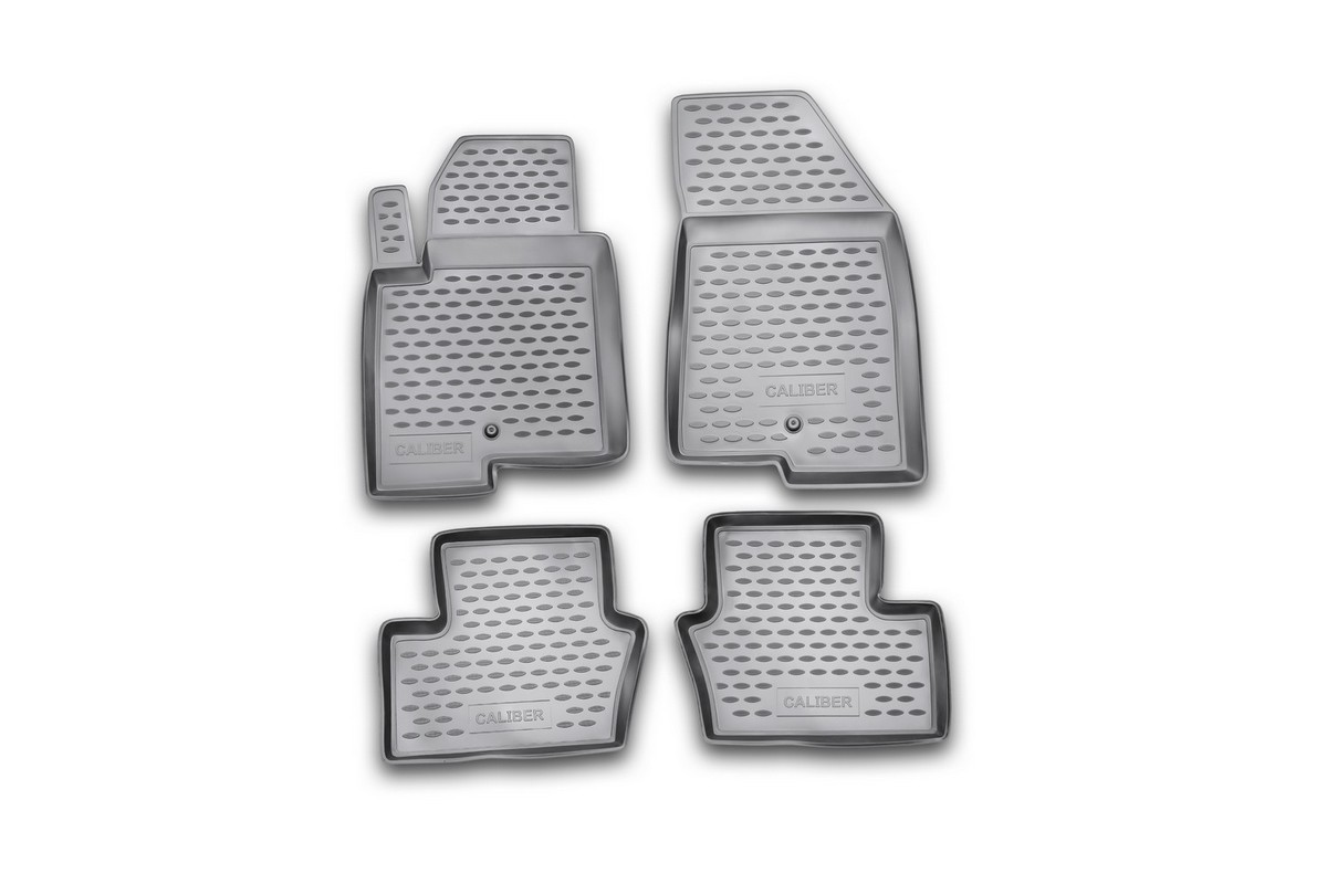 Набор автомобильных ковриков Element для Dodge Caliber 2006-, в салон, цвет: серый, 4 шт набор автомобильных ковриков element для dodge caliber 2006 в салон цвет серый 4 шт