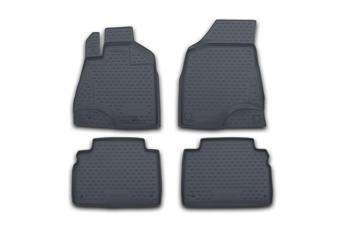Набор автомобильных ковриков Element для Dodge Caliber 2006-, в салон, цвет: черный, оранжевый, 4 шт цены онлайн