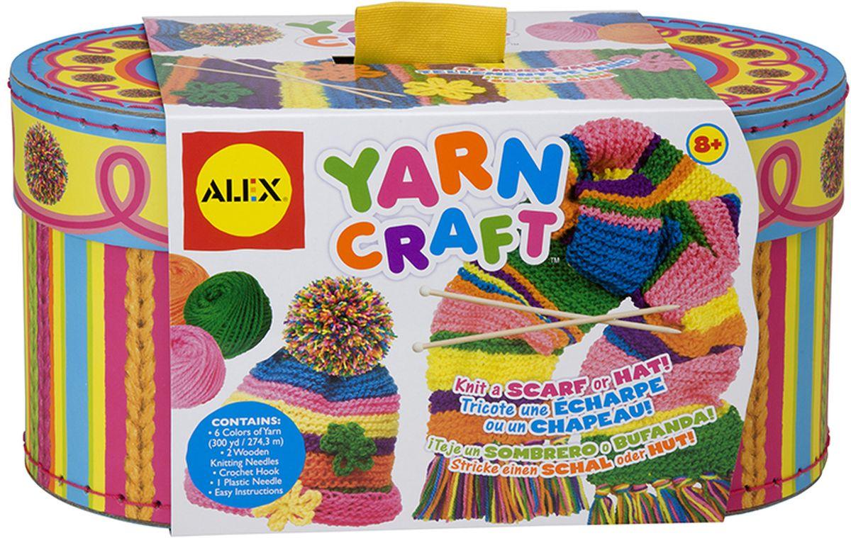 Alex Набор для вязания Учимся вязать шапочку и шарфик набор для вязания alex разноцветные шарф и шапочка от 7 лет 182t