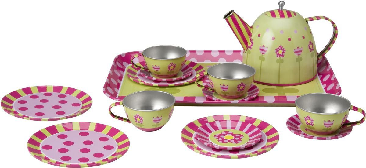 Alex Игровой набор посуды Чайный сервиз Весна 16 предметов