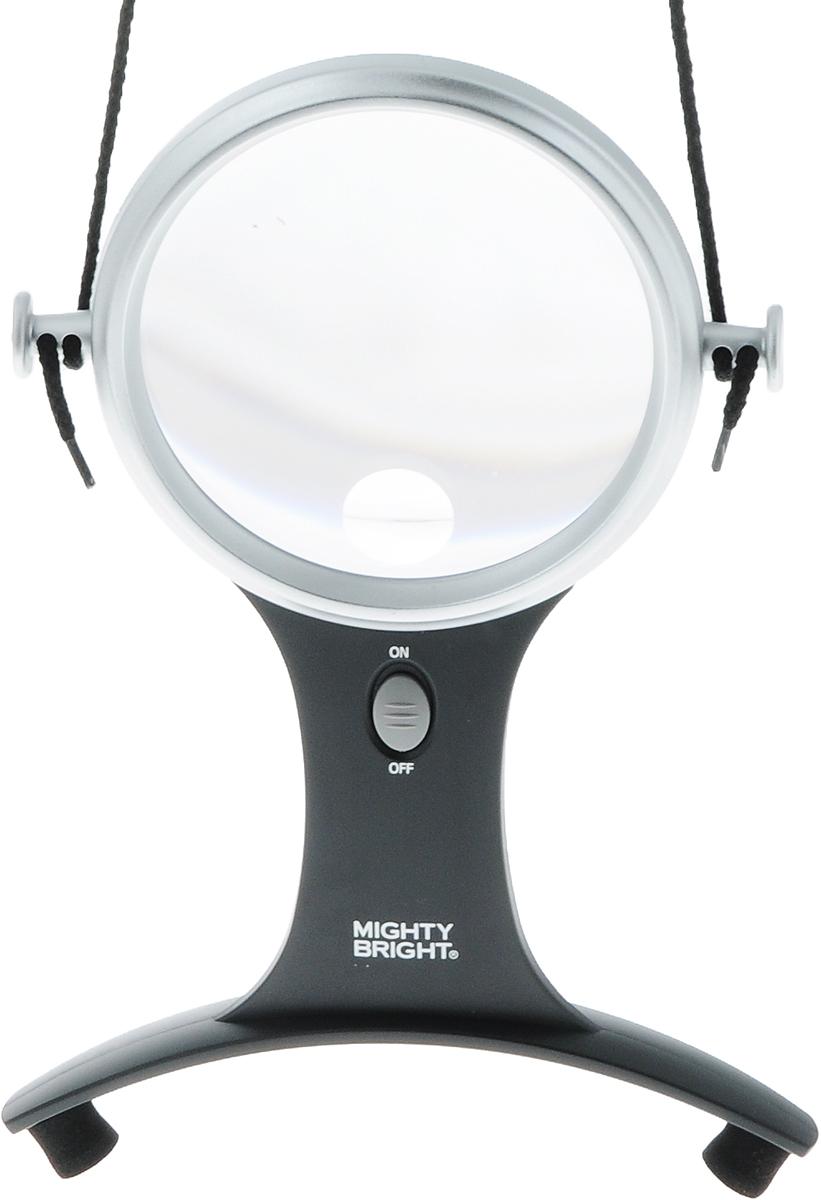 Лупа  Mighty Bright , с подсветкой, на шнуре, диаметр 10 см