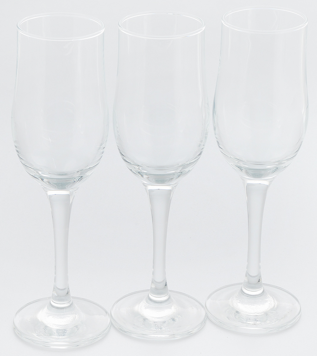 Набор фужеров для шампанского Pasabahce Tulipe, 190 мл, 3 шт набор фужеров для шампанского pasabahce bistro цвет прозрачный 275 мл 6 шт