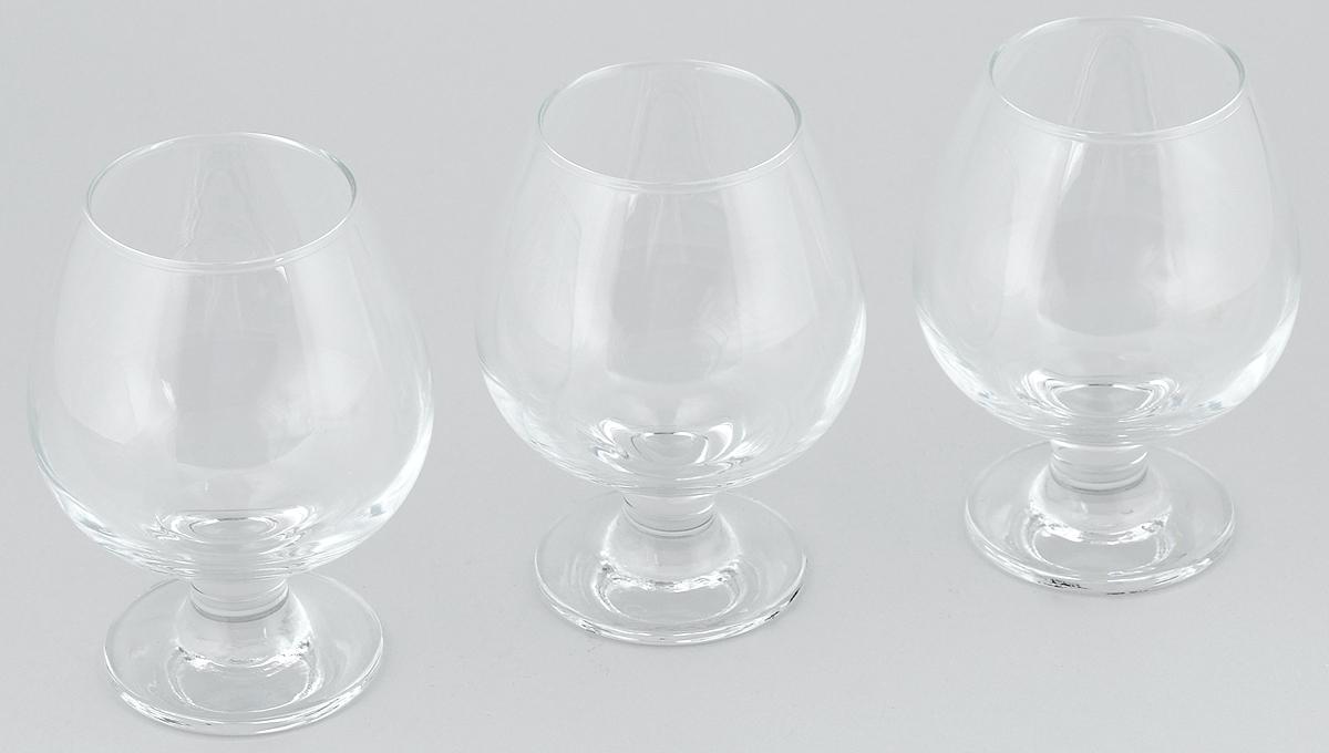Фото - Набор бокалов для коньяка Pasabahce Bistro, 400 мл, 3 шт набор бокалов для мартини pasabahce bistro 170 мл