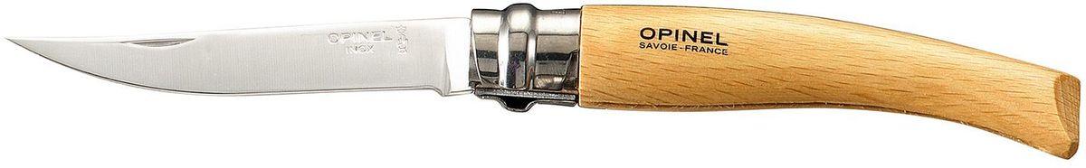 Нож филейный Opinel Slim №08, длина клинка 8 см, цвет: светло-коричневый. 000516 чехол opinel chic для trad 07 08 09 и eff 08 10 цвет коричневый длина 14 см